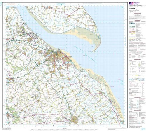 Maps - Grimsby Louth Landranger Map - Ordnance Survey
