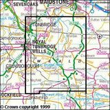 Maps - High Weald Royal Tunbridge Wells Explorer Map - Ordnance Survey
