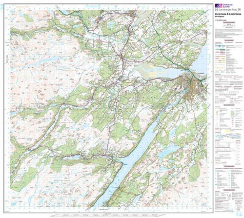 Maps - Inverness Loch Ness Strathglass Landranger Map - Ordnance Survey
