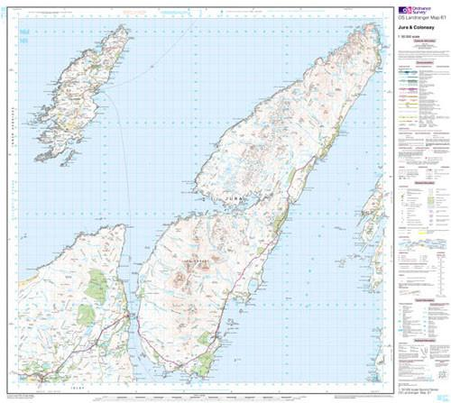 Maps - Jura Colonsay Landranger Map - Ordnance Survey