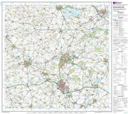 Maps - Kettering Corby Landranger Map - Ordnance Survey