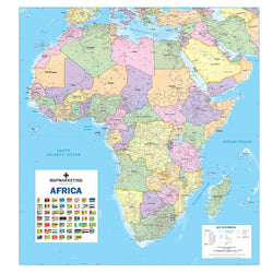 Maps - Laminated Africa Poitical Wall Map