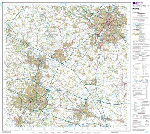 Maps - Leicester Coventry Rugby Landranger Map - Ordnance Survey