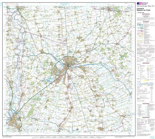 Maps - Lincoln Newark-on-Trent Landranger Map - Ordnance Survey