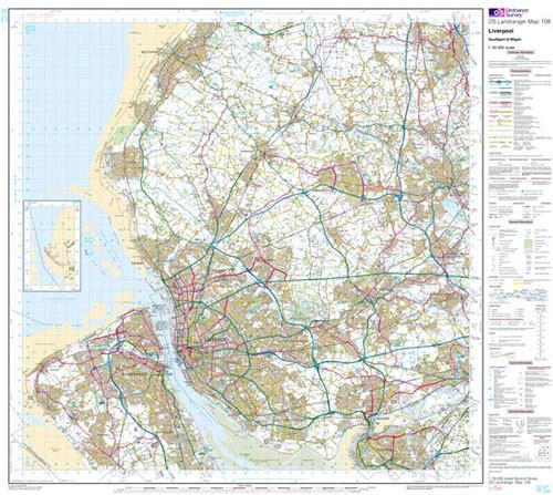 Maps - Liverpool Southport Wigan Landranger Map - Ordnance Survey