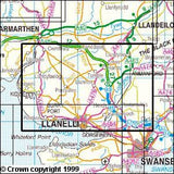 Maps - Llanelli Ammanford Explorer Map - Ordnance Survey