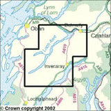 Maps - Loch Awe Inveraray Explorer Map - Ordnance Survey