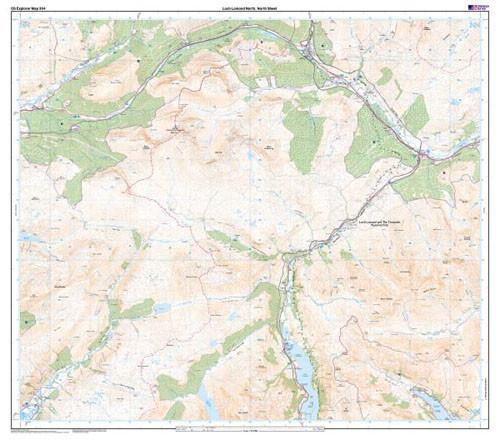 Maps - Loch Lomond North Explorer Map - Ordnance Survey