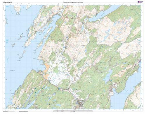 Maps - Lochgilphead Knapdale North Explorer Map - Ordnance Survey
