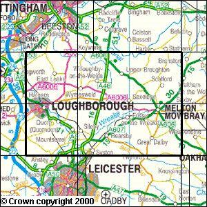 Loughborough Melton Mowbray Explorer Map Ordnance Survey Geopacks