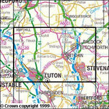 Maps - Luton Stevenage Hitchin Explorer Map - Ordnance Survey