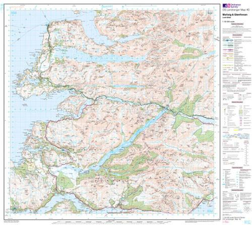 Maps - Mallaig Glenfinnan Loch Shiel Landranger Map - Ordnance Survey
