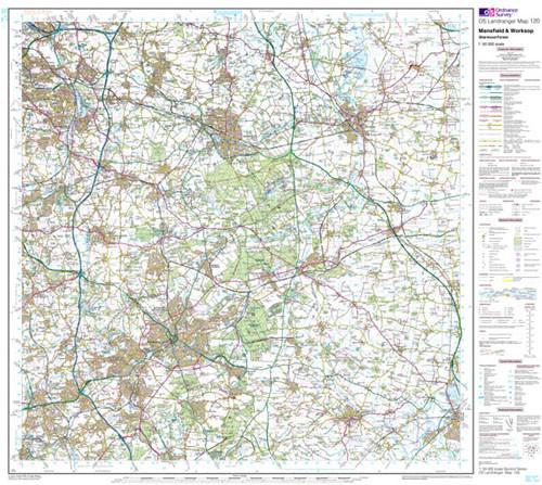 Maps - Mansfield Worksop Landranger Map - Ordnance Survey