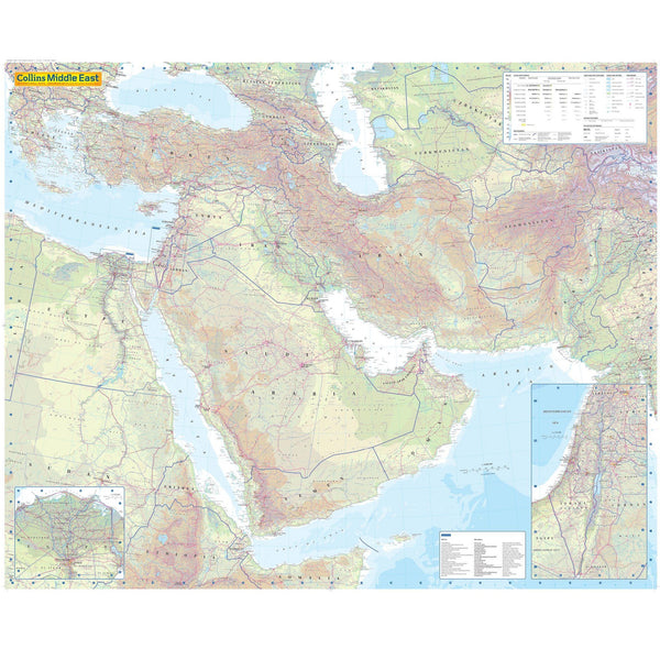 Middle East Wall Map Geography Resources
