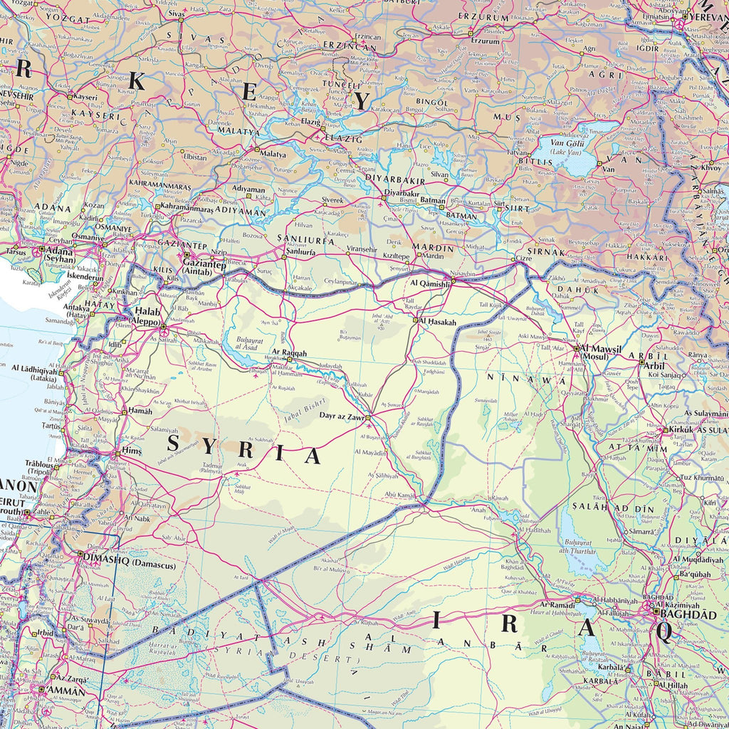 Picture of: Middle East Wall Map Geography Resources