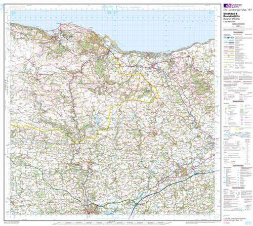 Maps - Minehead Brendon Hills Landranger Map - Ordnance Survey