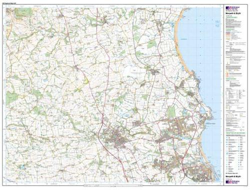 Maps - Morpeth Blyth Explorer Map - Ordnance Survey