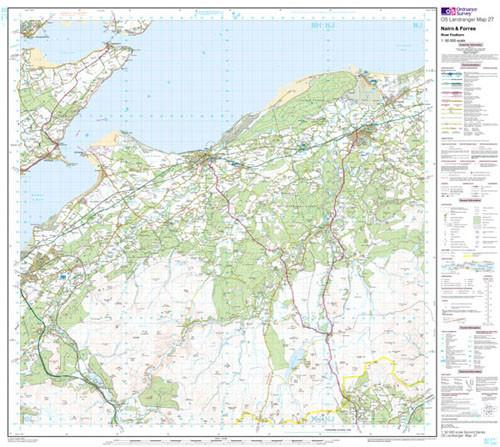 Maps - Nairn Forres River Findhorn Landranger Map - Ordnance Survey