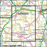Maps - Newmarket Havehill Barrow Explorer Map - Ordnance Survey