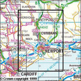 Maps - Newport Pontypool Explorer Map - Ordnance Survey