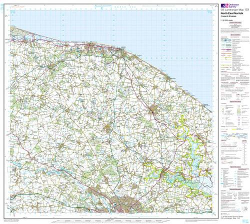 Maps - North East Norfolk Cromer Landranger Map - Ordnance Survey