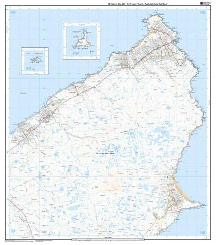 Maps - North Lewis Ceann A Tuath Leis Explorer Map - Ordnance Survey