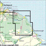 Maps - North York Moors Eastern Area Explorer Map - Ordnance Survey