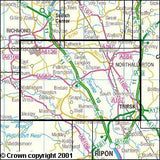 Maps - Northallerton Thirsk Explorer Map - Ordnance Survey