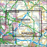 Maps - Nuneaton Tamworth Lichfield Explorer Map - Ordnance Survey