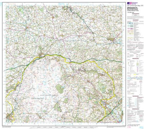 Maps - Okehampton North Dartmoor Landranger Map - Ordnance Survey