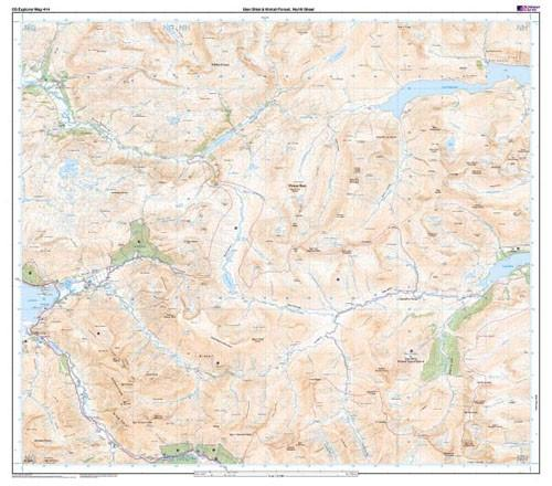 Maps - Ordnance Survey Explorer Map Glan Shiel Kintail Forest