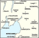 Maps - Ordnance Survey Landranger Map Kendal Morecambe, Windermere And Lancaster