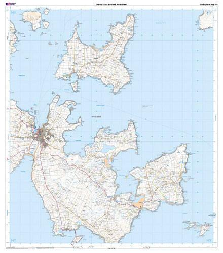 Maps - Orkney East Mainland Explorer Map - Ordnance Survey