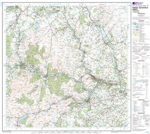 Maps - Peebles Galashiels Selkirk Landranger Map - Ordnance Survey