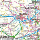 Maps - Reading Wokingham Pangbourne Explorer Map - Ordnance Survey