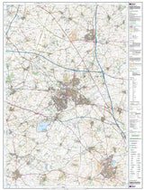 Maps - Rugby Daventry Southam Explorer Map - Ordnance Survey