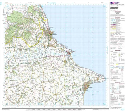 Maps - Scarborough Bridlington Landranger Map - Ordnance Survey