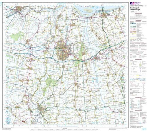 Maps - Scunthorpe Gainsborough Landranger Map - Ordnance Survey