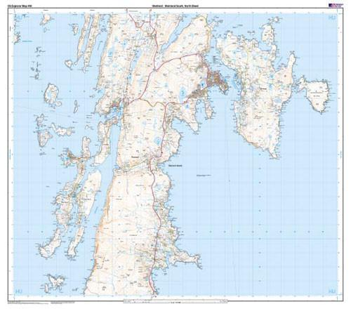 Maps - Shetland Mainland South Explorer Map - Ordnance Survey