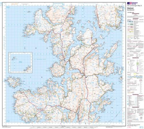 Maps - Shetland North Mainland Landranger Map - Ordnance Survey