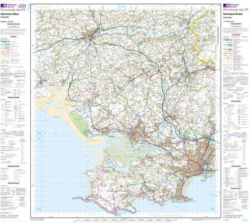 Maps - Swansea Gower Carmarthen Landranger Map - Ordnance Survey