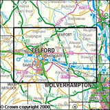Maps - Telford Ironbridge The Wrekin Explorer Map - Ordnance Survey
