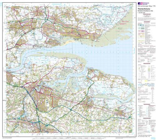 Maps - Thames Estuary Rochester Landranger Map - Ordnance Survey