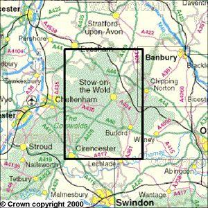 Maps - The Cotswolds Explorer Map - Ordnance Survey