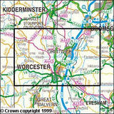 Maps - Worcester Droitwich Spa Explorer Map - Ordnance Survey