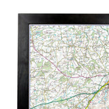 Wall Maps - Peak District - UK National Park Wall Map