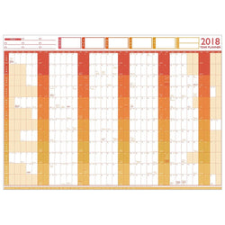 Wall Planner - 2018 Large Year Wall Chart And Holiday Planner
