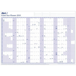 Wall Planner - Giant 2018 Yearly Wall Planner