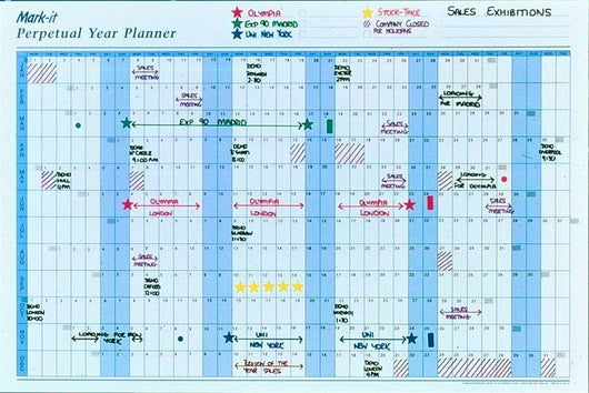 Wall Planner - Perpetual Year Wall Planner