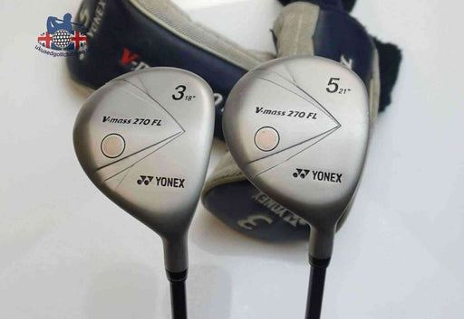 Ladies Refinished Set 2 x Yonex V Mass 270FL Woods 3 & 5 Ladies Graphite Shafts